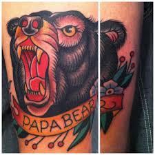 papa bear traditional tattoos