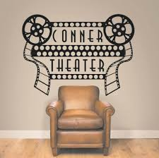 movie decor for the home wall decor the simple design of home movie theater lenserver