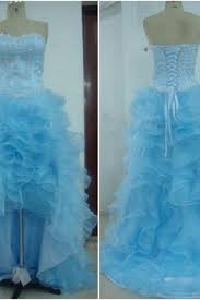 Light Blue High Low Dress Formal Dresses Formal Dress Evening Gowns Luulla