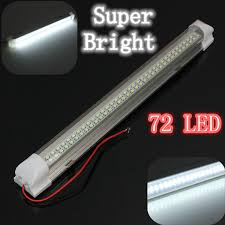 Automotive Led Light Strips 12v Universal Car Van Caravan Interior 72 Led Light Strip Lamp On