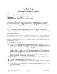 Household Manager Resume Direct Support Professional Dsp U2013 Job Description