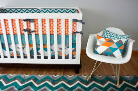 Navy Coral And White Bedroom Bedroom Nursery With White Rocking Chair Plus White Crib Plus