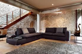 canap noir et gris davaus salon avec canape noir avec des idées intéressantes