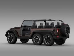 jeep rubicon all white jeep wrangler rubicon 6x6 2016 3d model