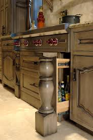 Pictures Of Antiqued Kitchen Cabinets Cabinets U0026 Drawer Awesome Small Kitchen With Taupe Distressed