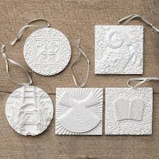 vosk the greatest gift sculpted ornament set dayspring