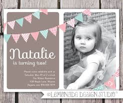 Editable 1st Birthday Invitation Card First Birthday Invitation Bunting Flags Banner Photo Printable