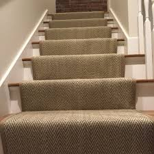 loving this custom herringbone stair runner we fabricated and
