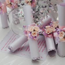 wedding invitation greeting card roll in pink scr004 prices