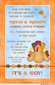 turkey baby shower invitation fall thanksgiving