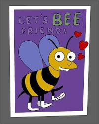 simpsons valentines day card i choo choo choose you or lets bee friends what i ve learned this