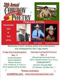 27th annual cowboy christmas poetry gathering wickenburg arizona
