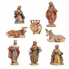 nativity set holy family 8 pieces cm 11 4 3 inch fontanini