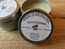 mineral oil based spoon wax large 4oz container butcher block