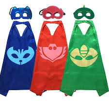 pj mask halloween costumes little sweet cheeks boutique u2014 pj masks capes and mask set
