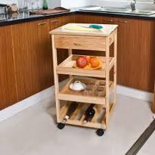 desserte de cuisine en bois à roulettes haku möbel 40027 chariot de cuisine d acier aluminium hêtre