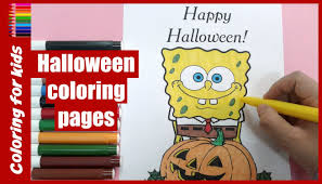 halloween for kids how to color spongebob coloring pages from