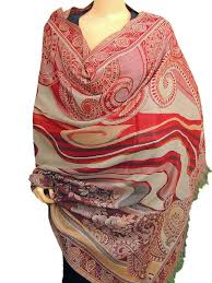 paisley designer wool afghan red kashmir shawl india furniture