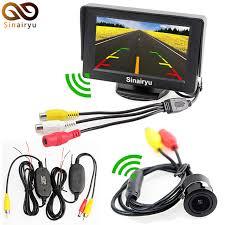3 in 1 wireless kamera parkir mobil monitor sistem 4 3