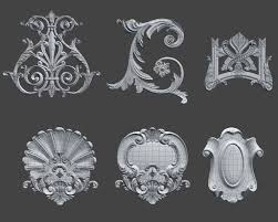 swag ornaments collection 3d model in decoration 3dexport