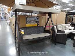 agio international fairview woven patio swing
