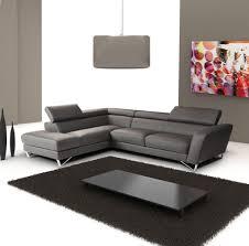 living room white tile flooring grey sectional leather sofa dark
