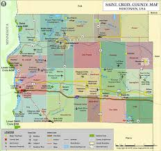 map st croix st croix county map wisconsin