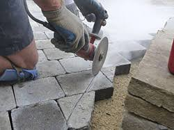 Cutting Patio Pavers Cutting Pavers Block By Bill Gardocki