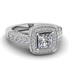 square style rings images Princess cut square halo victorian diamond vintage engagement ring jpg
