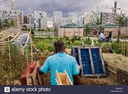Community Gardens In Urban Areas France Ile De France Seine Saint Denis St Ouen Docks