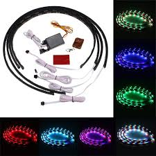 Automotive Led Light Strips Image 7 Color 4pcs Led Under Auto Car Underglow System Neon