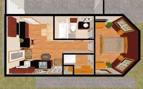 the 399 sq ft sure demure u0027s 3d top view cozy u0027s 300 399 sq ft