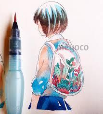 painted using my old sakura koi set the colors are very vivid