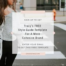 get the style guide template uno dos trae the work of