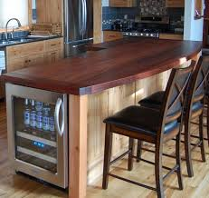 hickory kitchen island reclaimed hickory island with wood top kitchen new york by