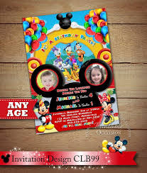 template mickey mouse clubhouse birthday party invitation ideas