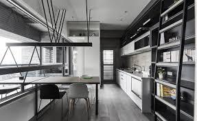 dining chair hardwood floor shelves cabinet workshop style kitchen