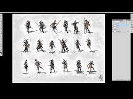 concept art character development 01 thumbnail sketches youtube