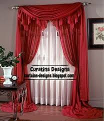 Curtain Style Contemporary Red Curtain Design Long Curtain Style For Bedroom
