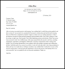 Chef Cover Letter professional executive chef cover letter sle writing guide