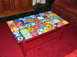 Small Mosaic Patio Table by Tiles Spanish Tile Table Antique Spanish Revival Small End Table
