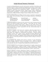 resume summary of qualifications leadership styles brief summary for resume