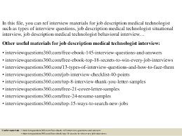 top 10 job description medical technologist interview questions and a u2026