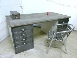 Stainless Steel Office Desk Metal Office Desk Reclaimed Wood Steel Tanker Desks And