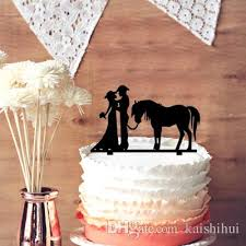cowboy cake topper 2018 unique wedding cake topper cowboy and silhouette