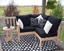 How To Build Patio Furniture Sectional - diy outdoor seating her tool belt