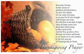 thanksgiving prayers shared thoughts