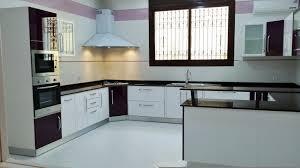 cuisine mini cuisine moderne blanc aubergine avec mini bar tlemcen cuisine