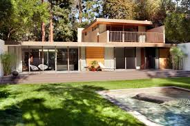 mid century modern landscaping exterior midcentury with concrete