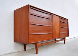 Heywood Wakefield Buffet Credenza by Mid Century Danish Style Long And Low Dresser Credenza With